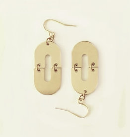 Darlings of Denmark Boucles d'oreilles Paëte Darlings of Denmark Laiton