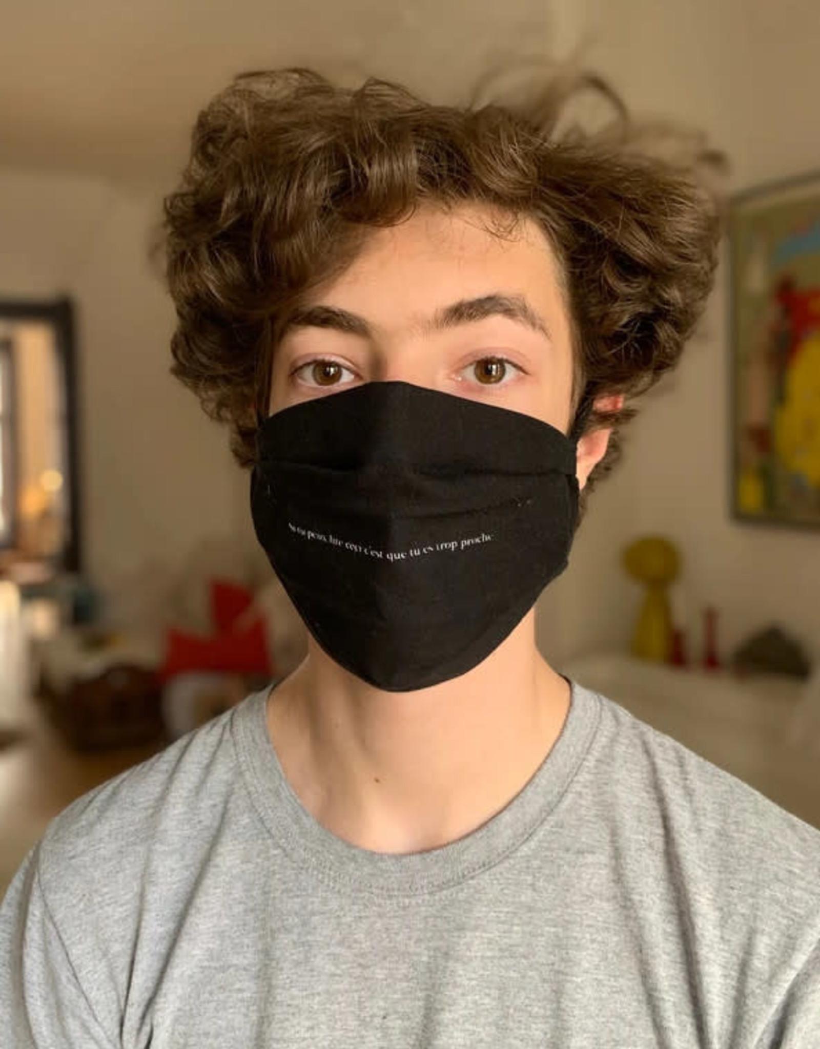 Raplapla Masque en tissu Raplapla Adulte Noir