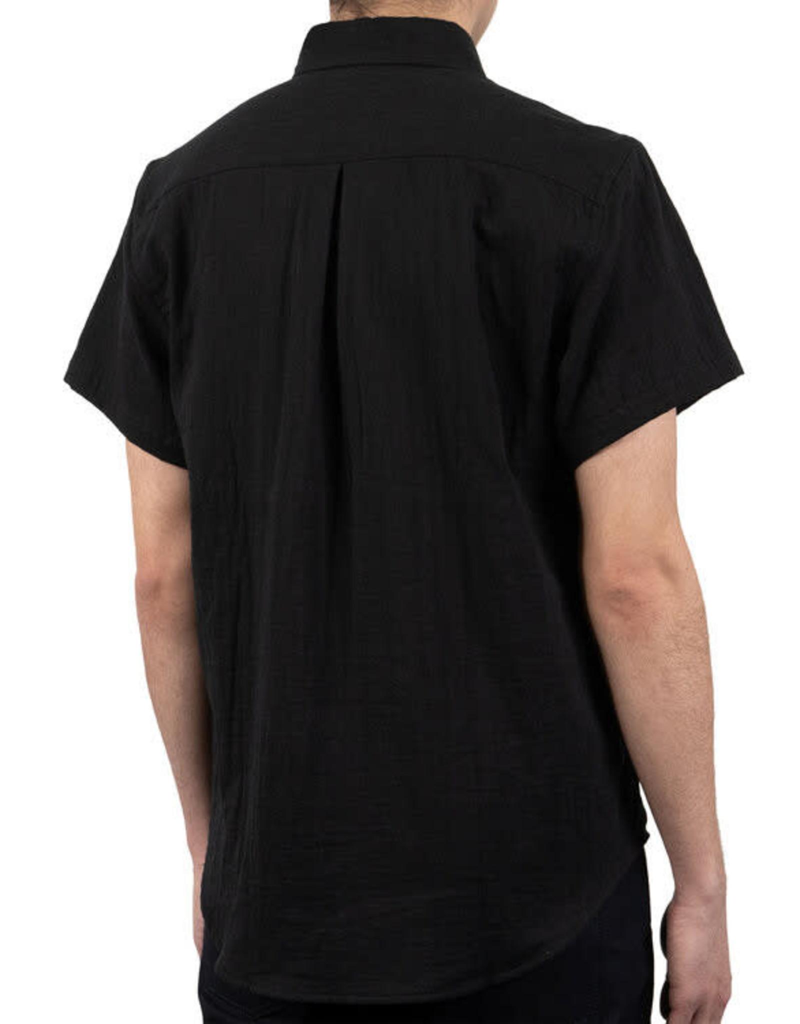 Naked and Famous Easy Shirt PE21 Naked & Famous Double Weave Gauze Black