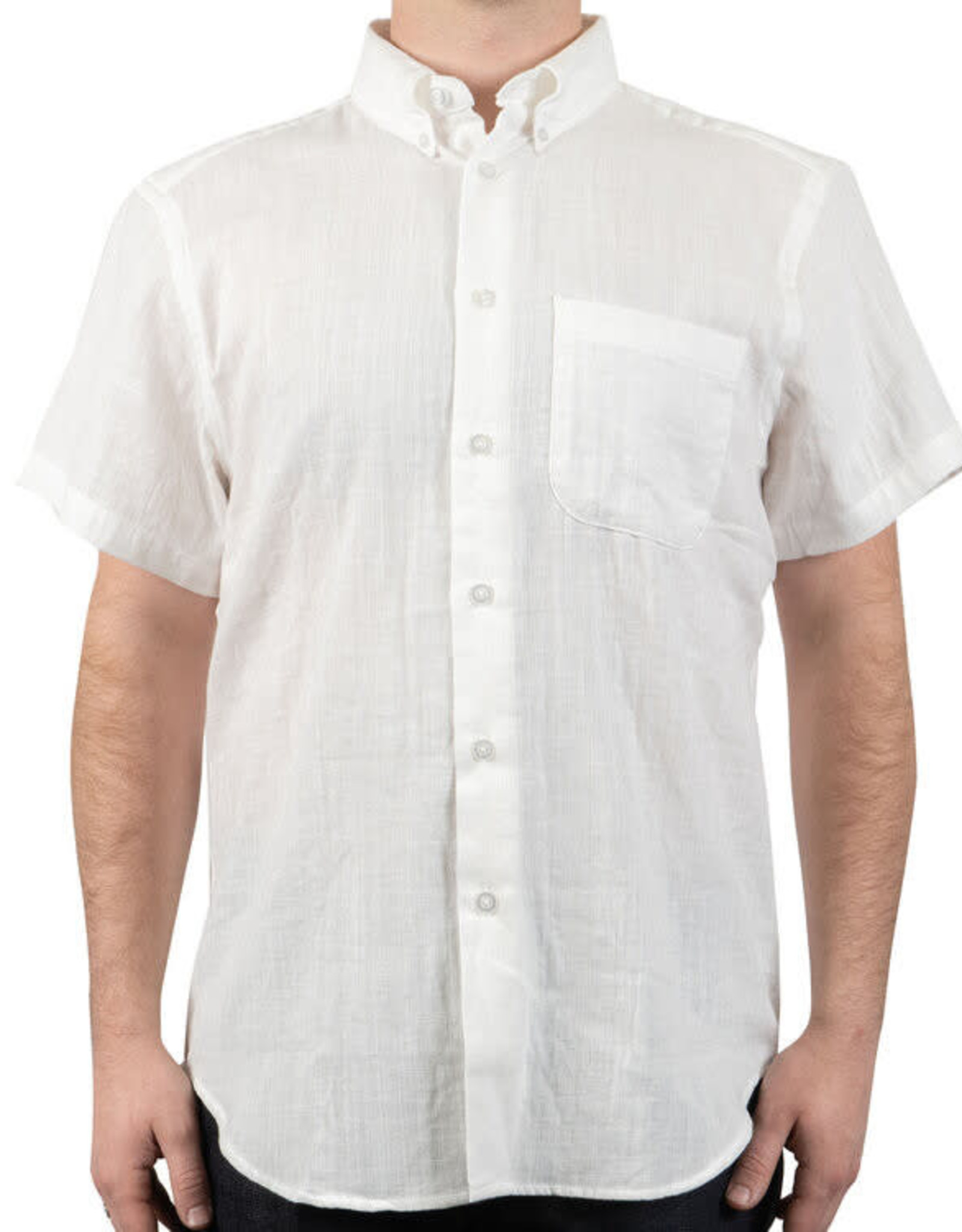 Naked and Famous Easy Shirt PE21 Naked & Famous Double Weave Gauze White