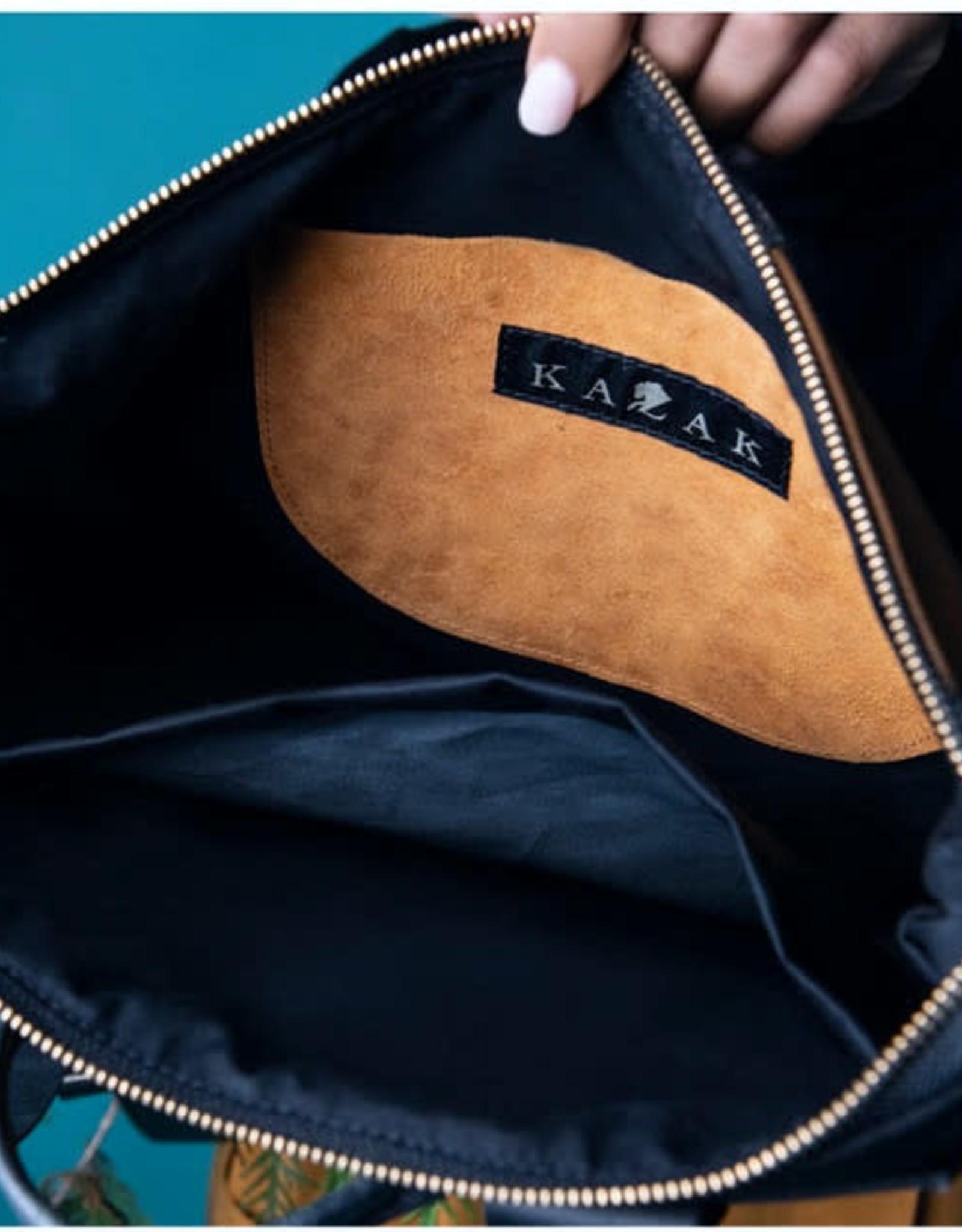 Kazak Sac Hobart Kazak Cuir rayures brun/ Cuir noir