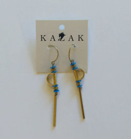 Kazak Boucles d'oreilles Ceres PE18 Kazak  Bleu