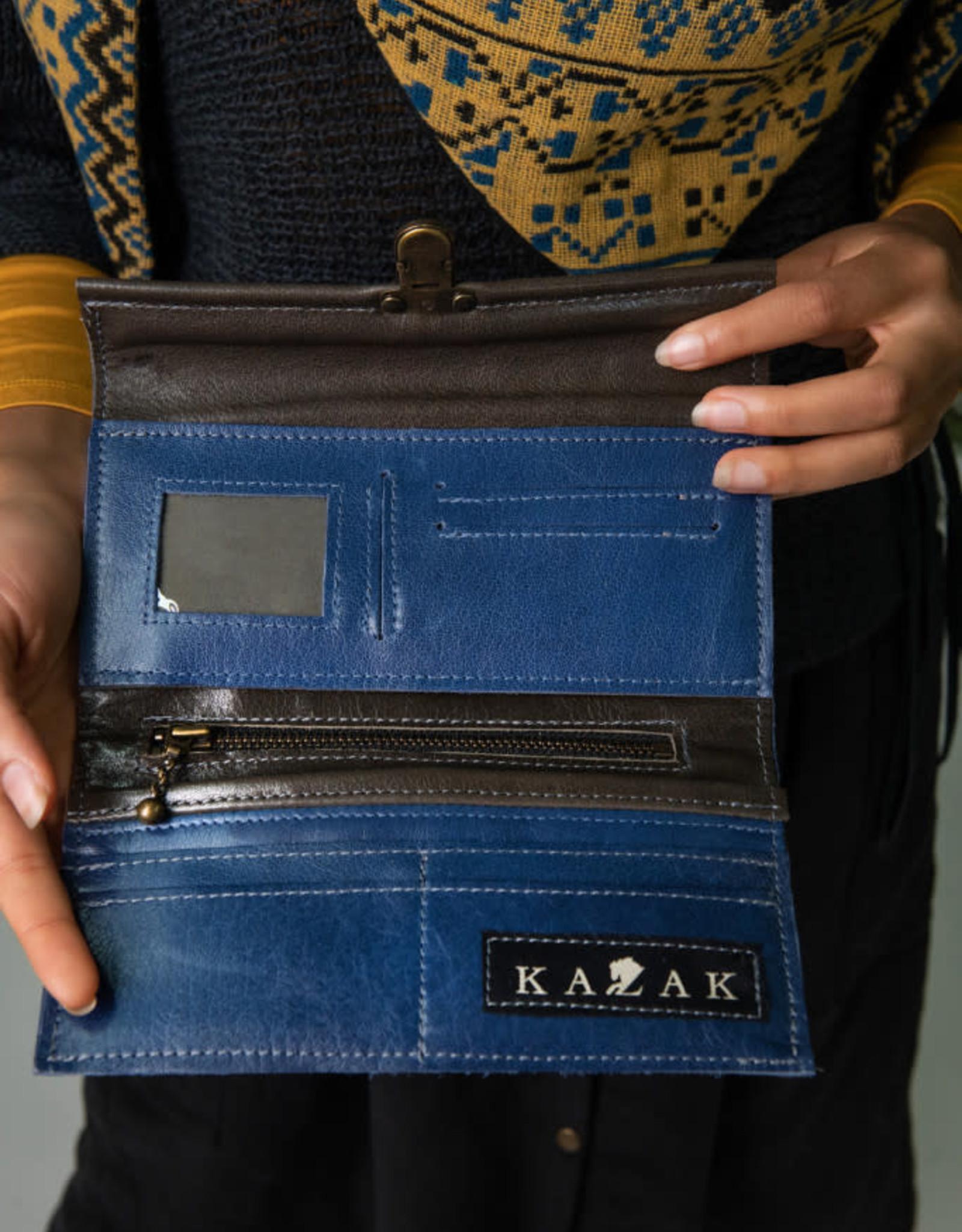 Kazak Porte Feuille Josephine PE19 Kazak Bleu/Taupe
