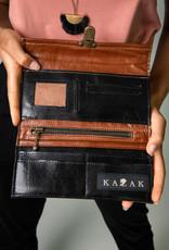 Kazak Porte Feuille Josephine PE19 Kazak Noir/ Caramel