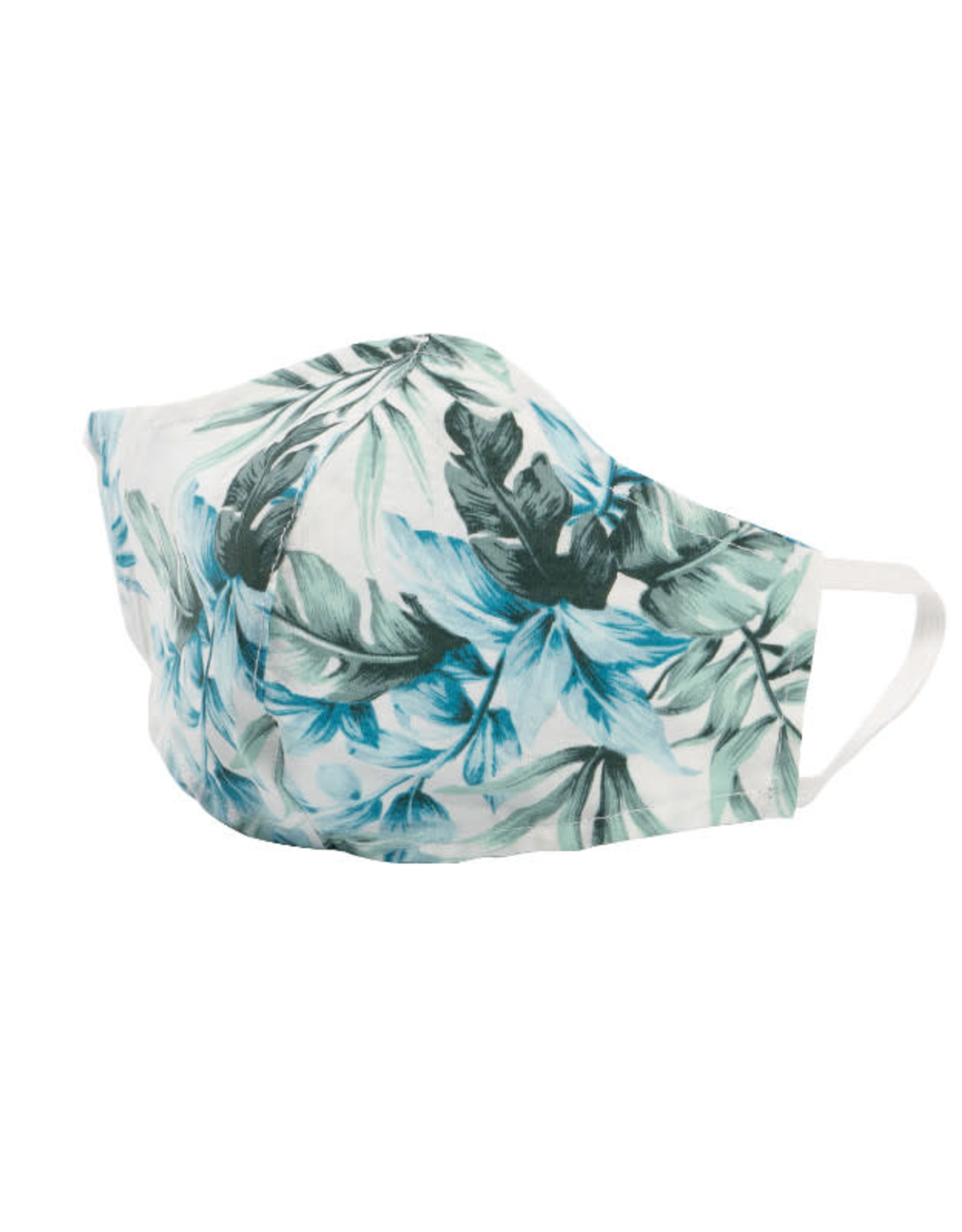 Naked and Famous Masque de protection Naked & Famous Tropical Print White