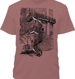 Tresnormale T-Shirt Homme Tresnormale Escalier Mauve