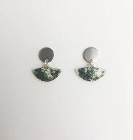 CartoucheMTL Boucles d'oreilles Rachel CartoucheMTL Vert forêt