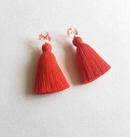 CartoucheMTL Boucles d'oreilles Béatrice CartoucheMTL Rouge-Orange