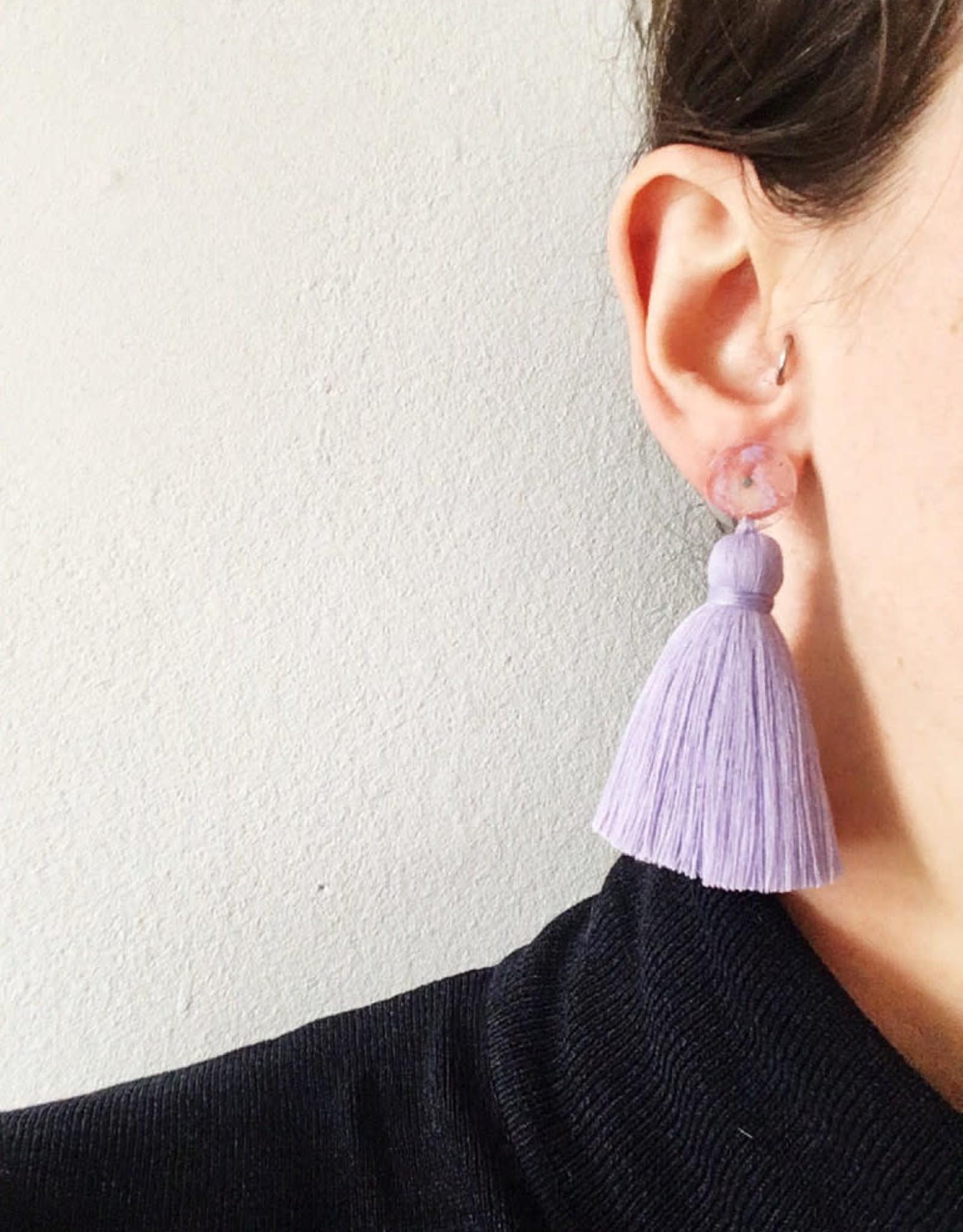 CartoucheMTL Boucles d'oreilles Béatrice CartoucheMTL Lilas