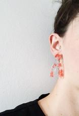 CartoucheMTL Boucles d'oreilles Clémence CartoucheMTL Rouge-Orange