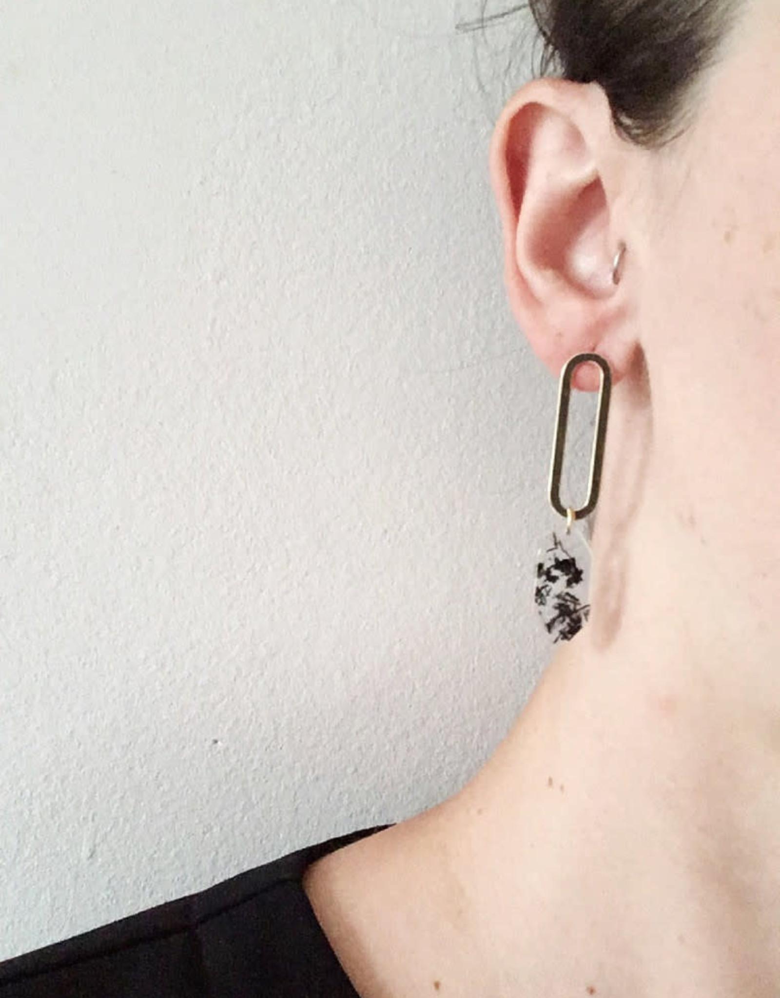 CartoucheMTL Boucles d'oreilles Marion CartoucheMTL Noir