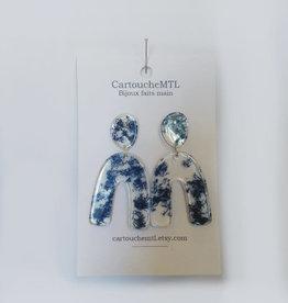 CartoucheMTL Boucles d'oreilles Clémence CartoucheMTL Bleu