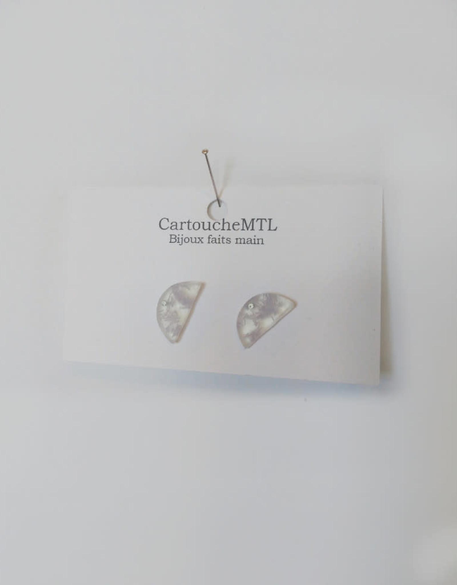 CartoucheMTL Boucles d'oreilles Camille CartoucheMTL Lilas