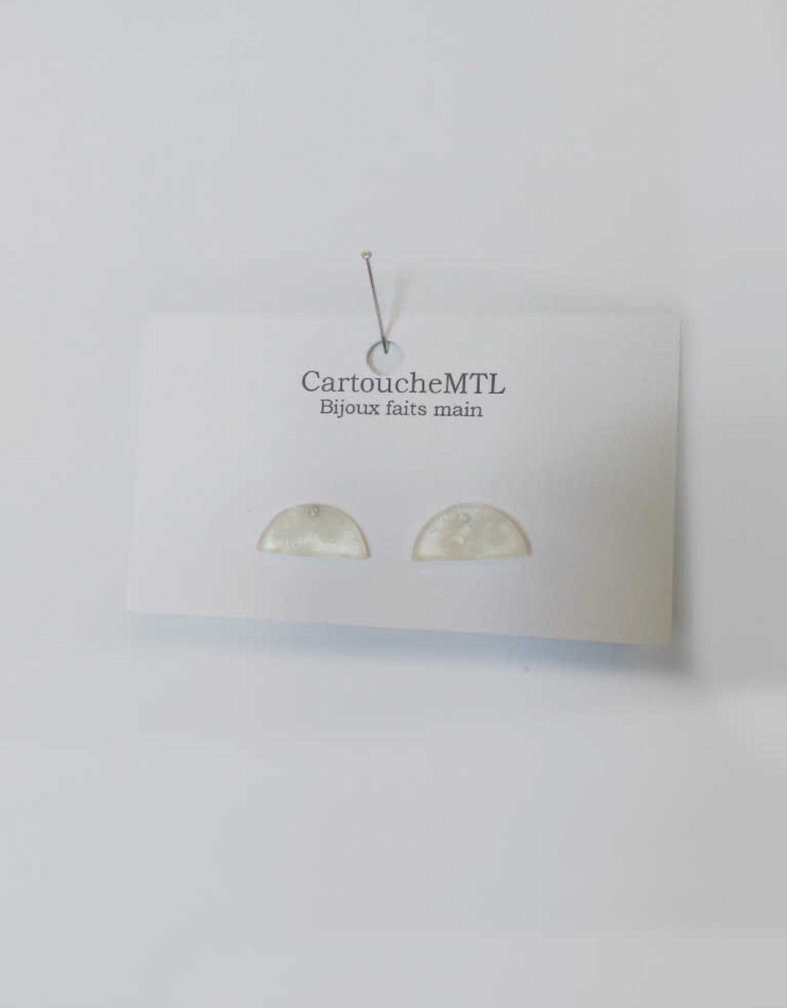 CartoucheMTL Boucles d'oreilles Camille CartoucheMTL Blanc