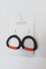 CartoucheMTL Boucles d'oreilles Odile CartoucheMTL Rouge-orange