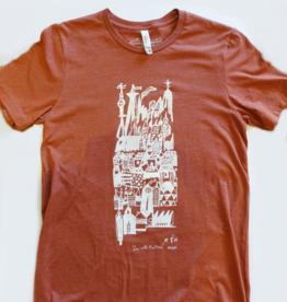 Sonambula T-shirt Ville Fantôme Sonambula Homme Rouille