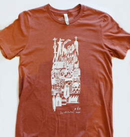 Sonambula T-shirt VilleFantôme Sonambula Homme Rouille