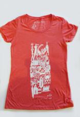 Sonambula T-shirt Ville Fantôme Sonambula Femme Rose