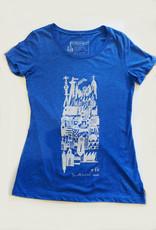 Sonambula T-shirt Ville Fantôme Sonambula Femme Bleu