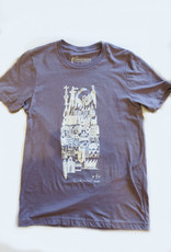 Sonambula T-shirt Ville Fantôme Sonambula Homme Lilas
