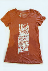 Sonambula T-shirt Ville Fantôme Sonambula Femme Rouille