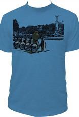 Tresnormale T-Shirt Homme Tresnormale Montagne et Velos Sarcelle