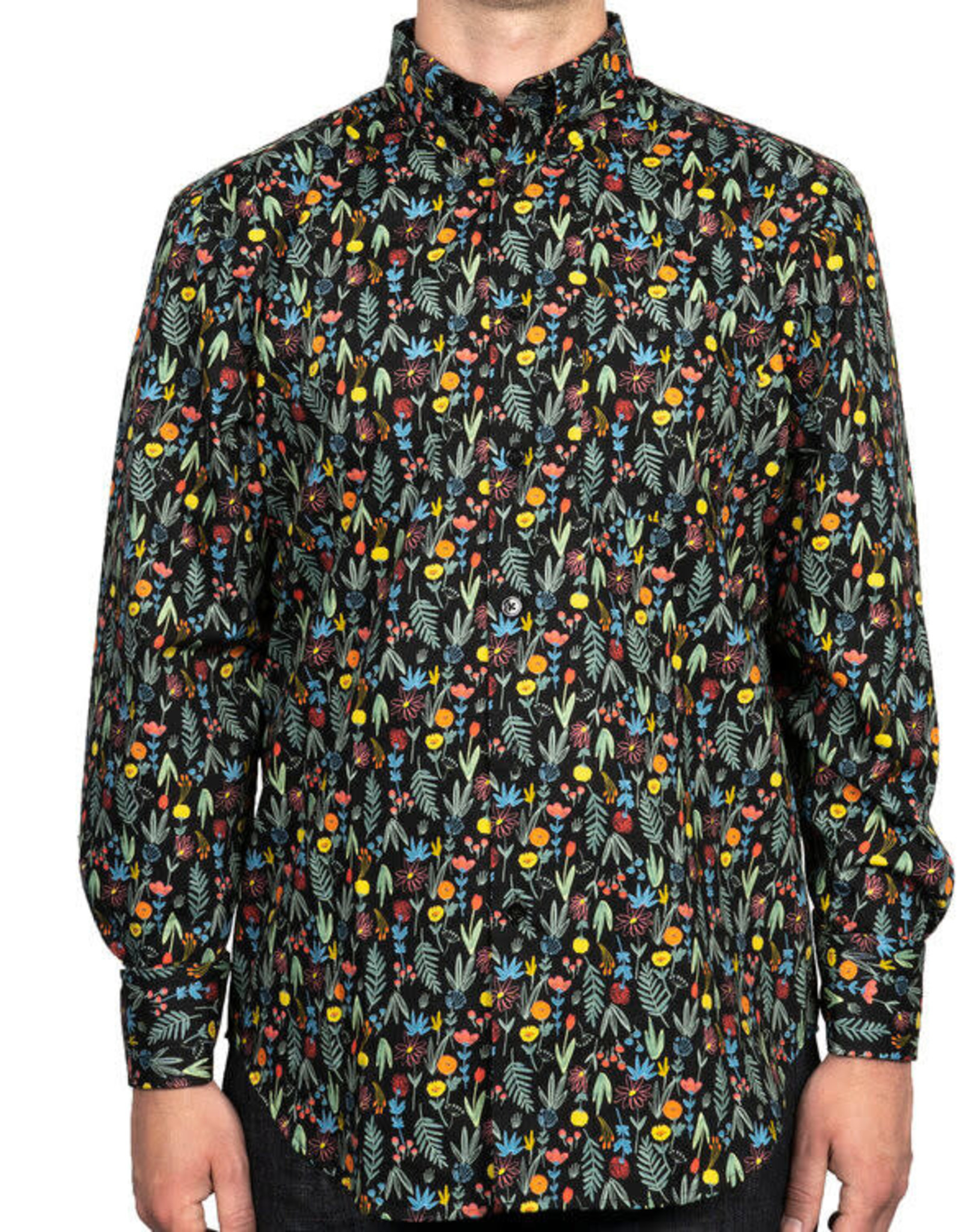 Naked and Famous Easy Shirt AH2021 Naked & Famous Pastel Flowers Black