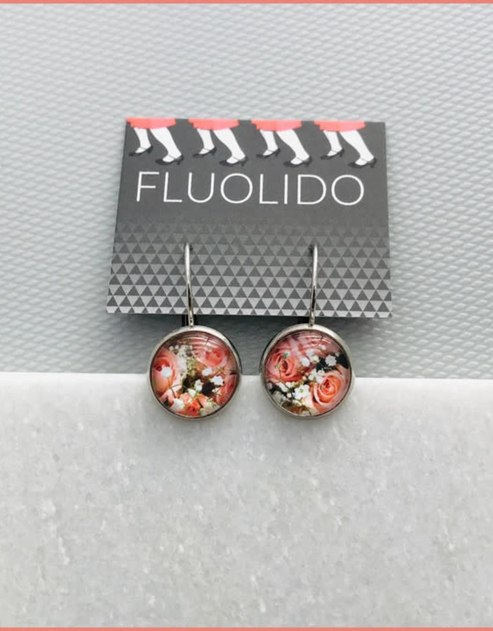 Fluolido Boucles d'oreilles Micro Fluolido Rose-ivoire