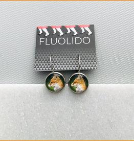 Fluolido Boucles d'oreilles Micro Fluolido Vert Renard