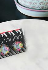 Fluolido Boucles d'oreilles Stud Fluolido Et le loup