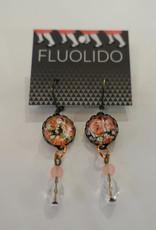 Fluolido Boucles d'oreilles Pendentif Fluolido Rose-ivoire (Cuivre)