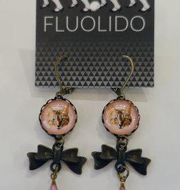 Fluolido Boucles d'oreilles Pendentif Fluolido Coquine