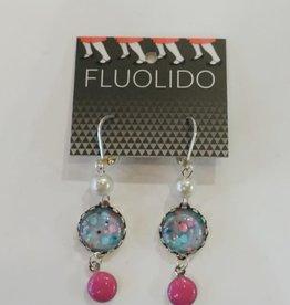 Fluolido Boucles d'oreilles Pendentif Fluolido Éclats