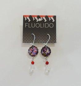 Fluolido Boucles d'oreilles Pendentif Fluolido Jardins