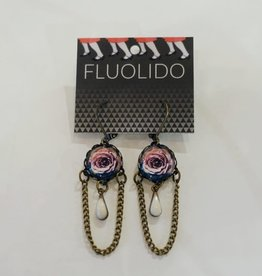 Fluolido Boucles d'oreilles Pendentif Fluolido Pourpre (Cuivre)