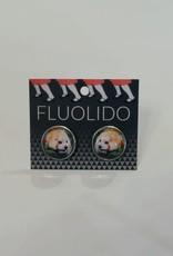 Fluolido Boucles d'oreilles Stud Fluolido Panda Roux