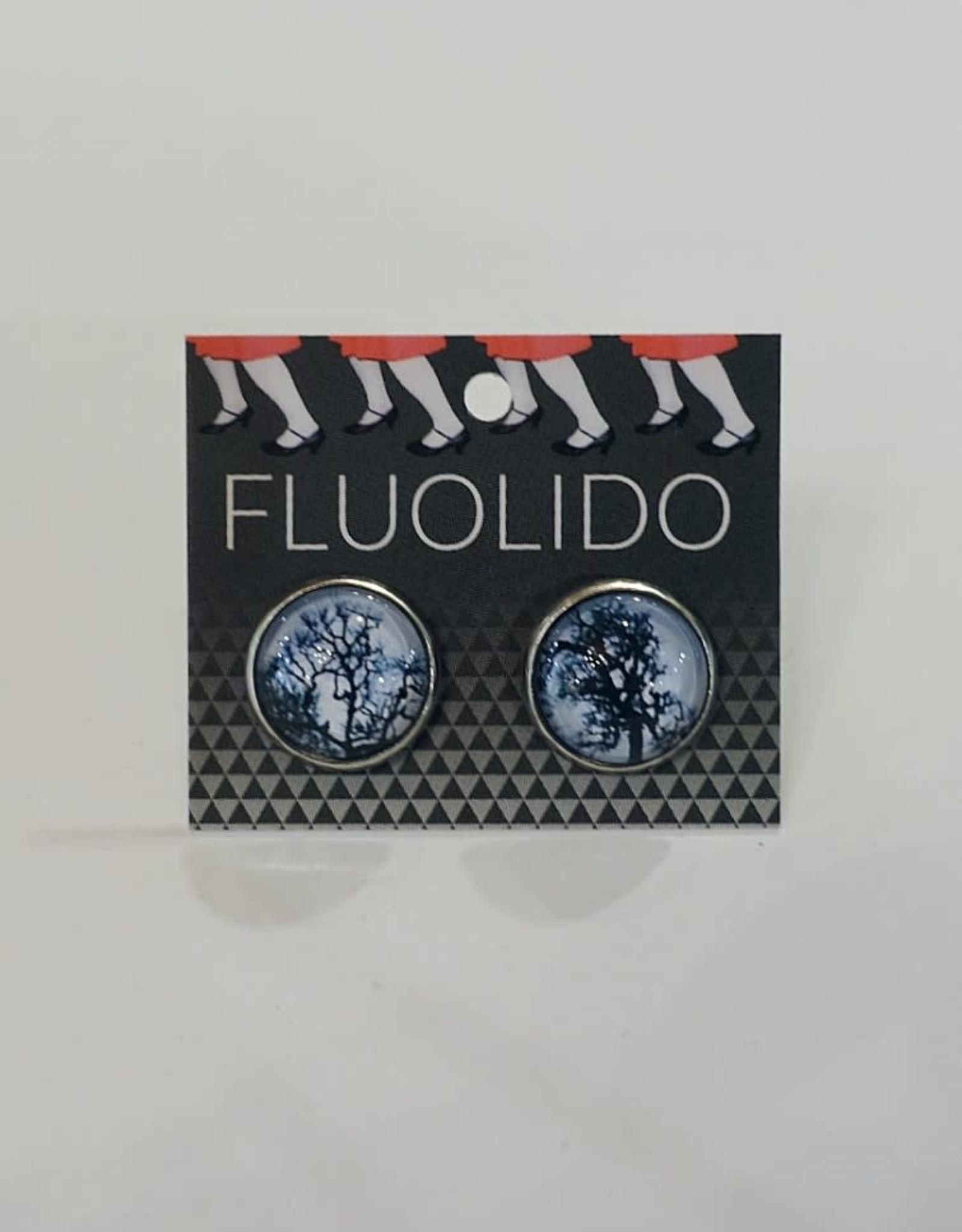 Fluolido Boucles d'oreilles Stud Fluolido Hiver