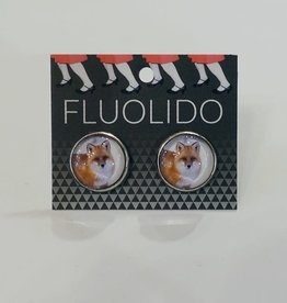 Fluolido Boucles d'oreilles Stud Fluolido Renard d'hiver