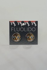 Fluolido Boucles d'oreilles Stud Fluolido Chat