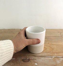 Atelier Trema Petit verre empilable Atelier Trema Blanc