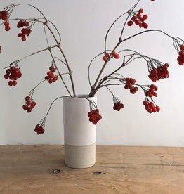 Atelier Trema Vase cylindrique Atelier Trema Blanc