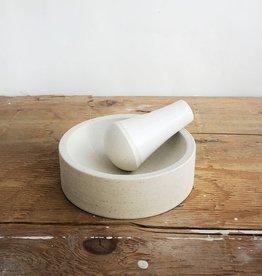 Atelier Trema Mortier et pilon Atelier Trema Blanc