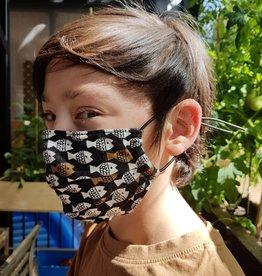 Kazak Masque en tissu Kazak Poissons Métalliques