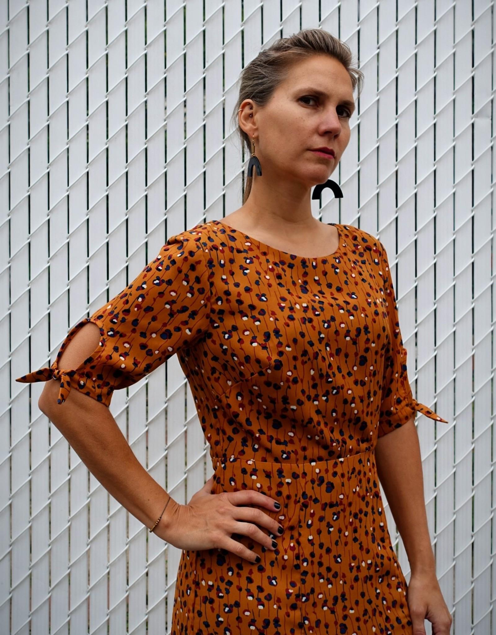 Annie 50 Robe Lola AH2021 Annie 50 Fleurs Moutarde