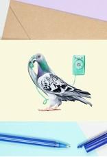 Amelie Legault Carte Amélie Legault Pigeon au téléphone