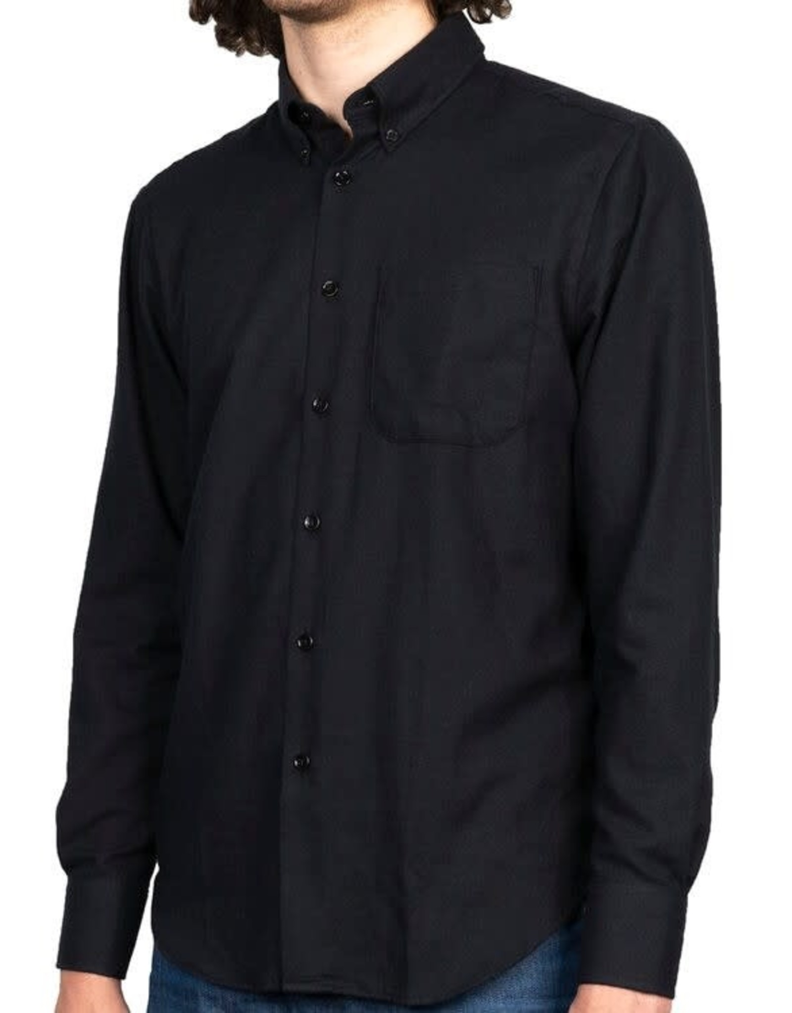 Naked and Famous Easy shirt AH2021 Naked & Famous Soft Twill Black