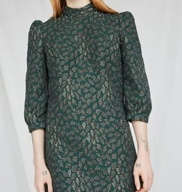 Eve Gravel Robe Cold mountains AH2021 Ève Gravel Emerald jacquard