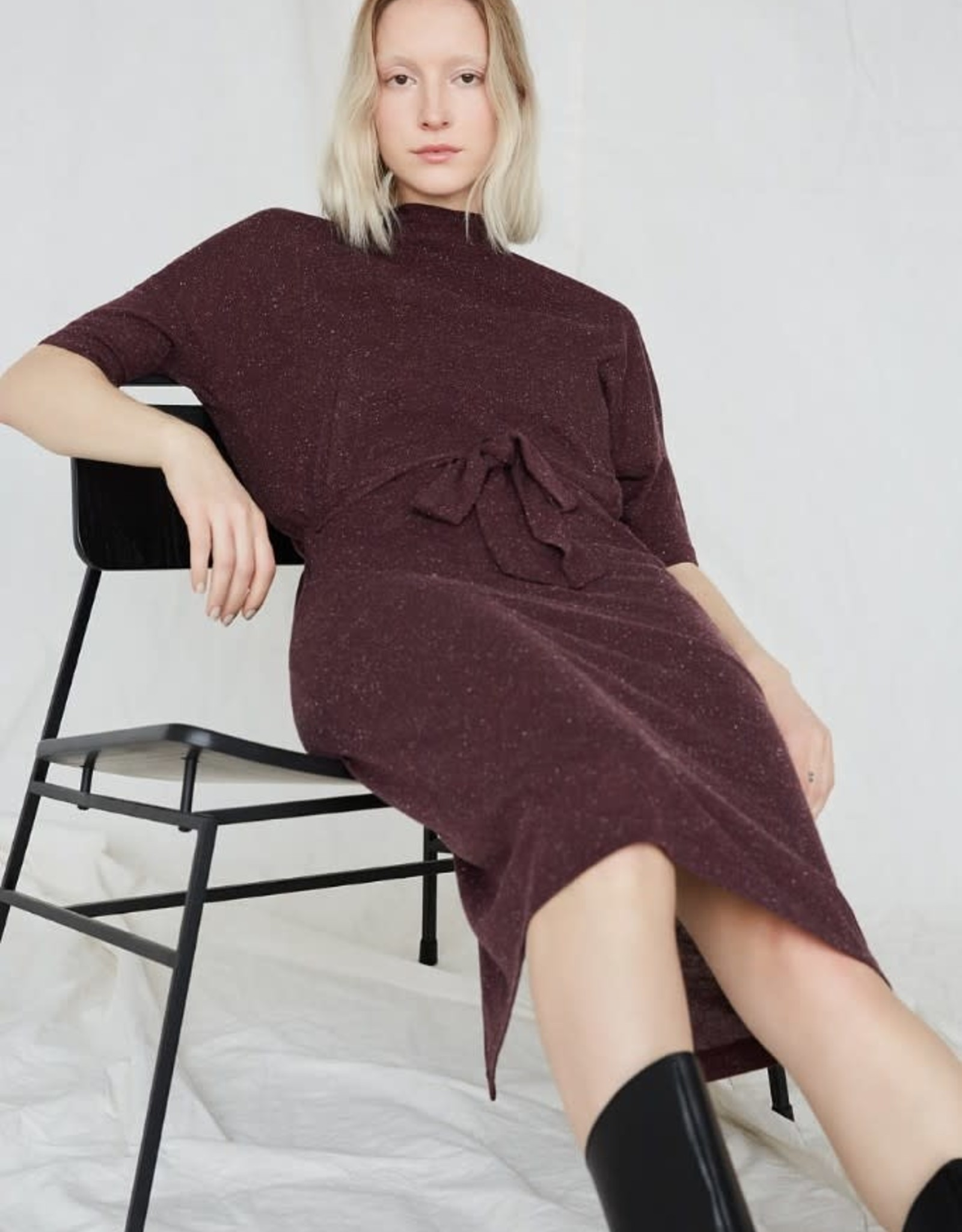Eve Gravel Robe Keoma AH2021 Ève Gravel Plum