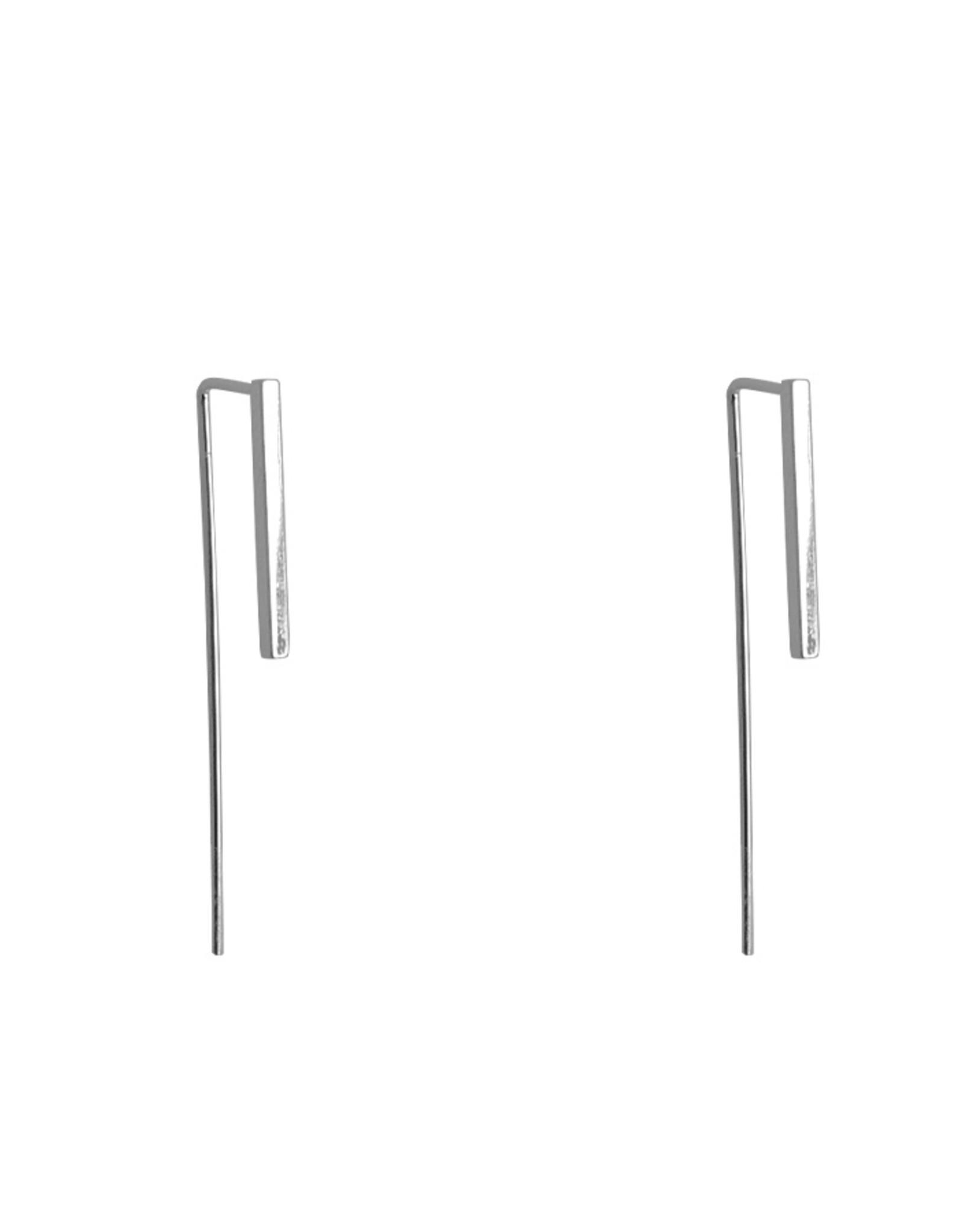 Lost & Faune BO Fils et pendentifs géométriques AH2021 Lost & Faune Tige simple Argent