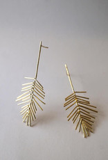 Marmod8 Boucles d'oreilles Leaves Gold Plating Marmod8